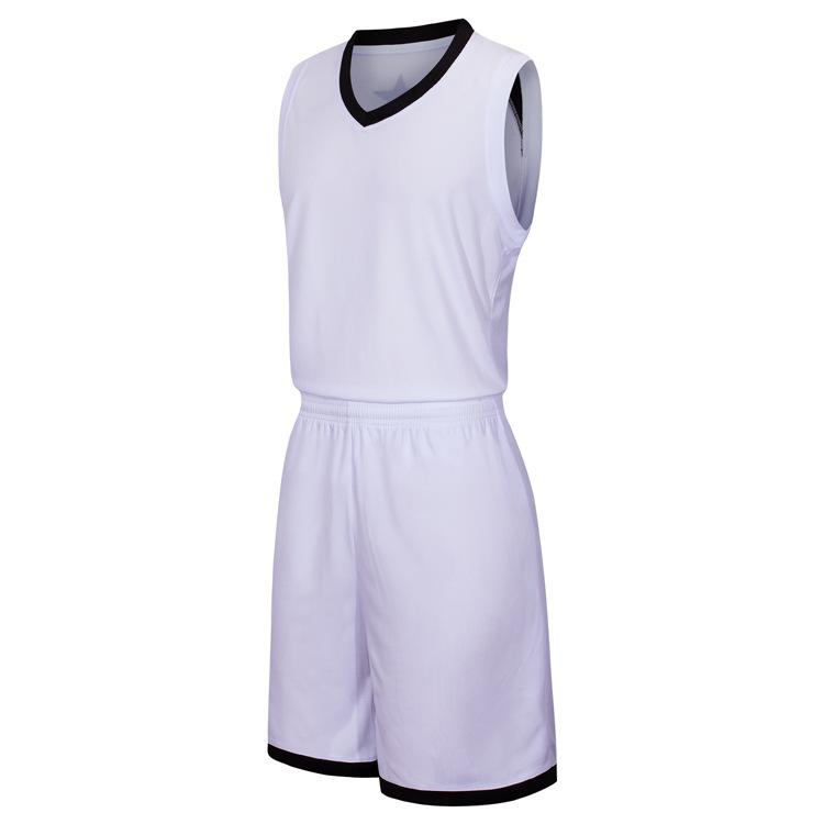 2019 New Blank Basketball jerseys printed logo Mens size S-XXL cheap price fast shipping good quality White W002AA1n