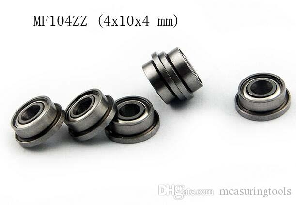 Ball Bearing Bearings 4x10x4 mm Flanged MF104ZZ 10 PCS Metal Shielded