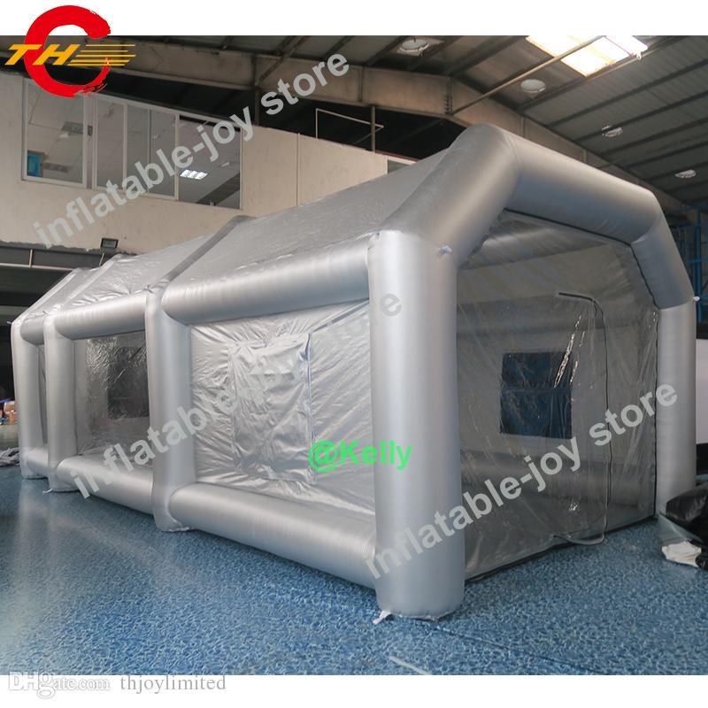 бесплатная доставка двери 8x5x3.5mH надувной распылитель для продажи, портативный покраска автомобиля надувной лакокрасочный стенд, надувные мобильные палатки краски