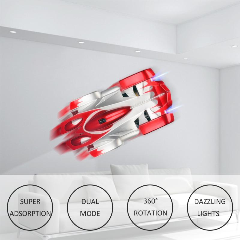 Remote Control Climbing RC with LED Lights 360 Degree Rotating Stunt Toys Antigravity Machine Wall Car for children MX200414