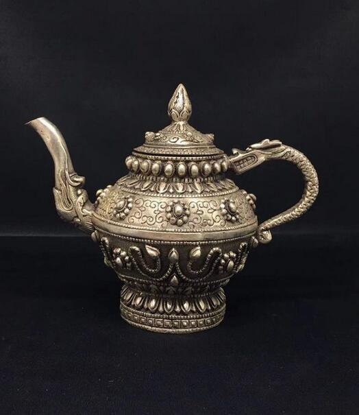 Antique pot de cuivre décoration de bronze huit décoration en cuivre blanc trésor pot dragon Daming Xuande salon maison decoratio antique
