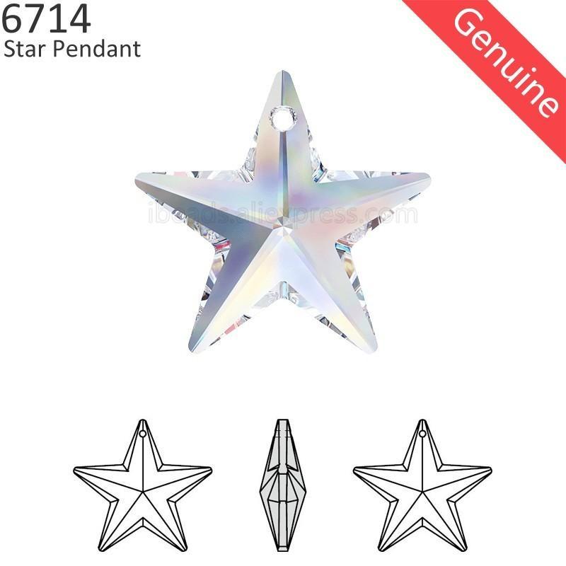 (1 peça) 100% cristal original do Swarovski 6714 pingente de estrela feita na Áustria pérolas soltas strass para fazer jóias DIY