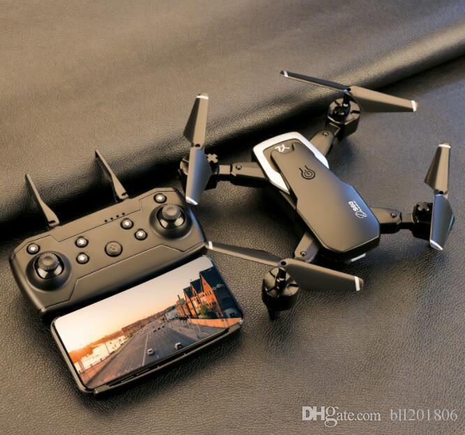 كاميرا مزدوجة الطائرة بدون طيار 4K 1080P صغيرة قابلة للطي ثابت الطول الطائرات لفتة صور أربعة المحور الجوي التحكم عن بعد الهليكوبتر طائرات بدون طيار لعبة S60 6PCS