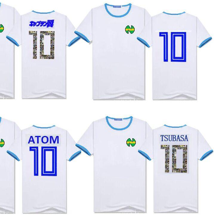formato dell'Asia, Nizza regalo Kid Uomini Camisetas Futbol Calcio Spagna Maillots de piedi attrezzature Oliver Atom Captain Tsubasa cotone maglie Camicie