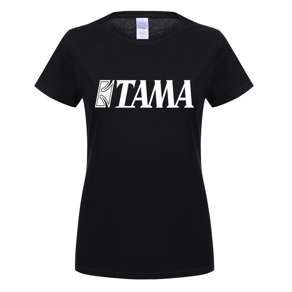 Estate Nuovo Tama donne della maglietta Nuova Drums T Shirt manica corta Tees Musica Girl T-shirt T-Shirts Donna O-collo in cotone