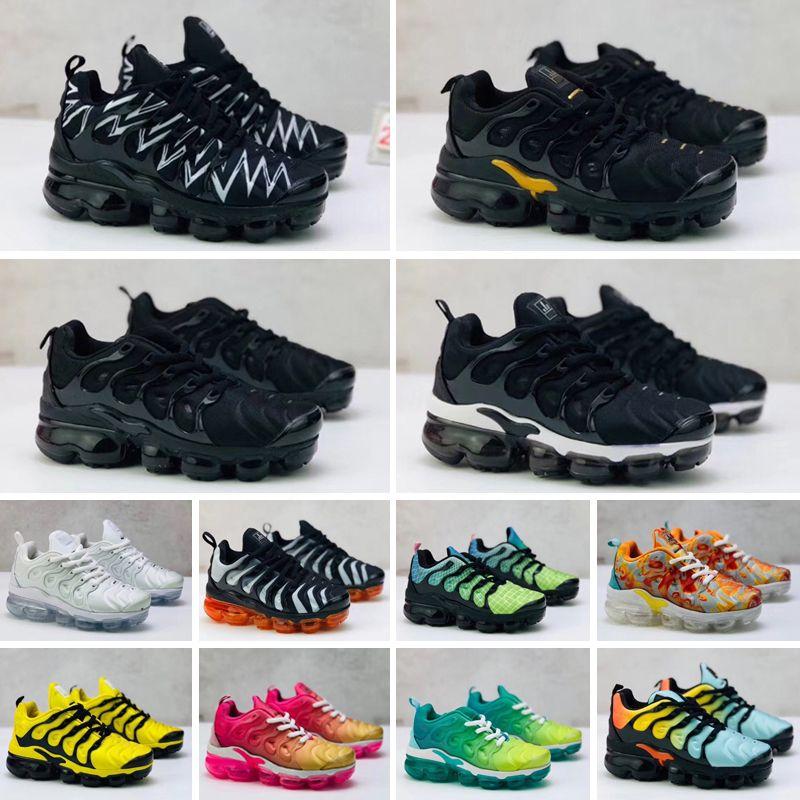 Nike Air Vapormax Plus TN enfants de basket-ball Chaussures de sport rouge pour nourrissons Les enfants en bas âge Gamma bleu Concord 11 formateurs garçon fille de tn Space Jam