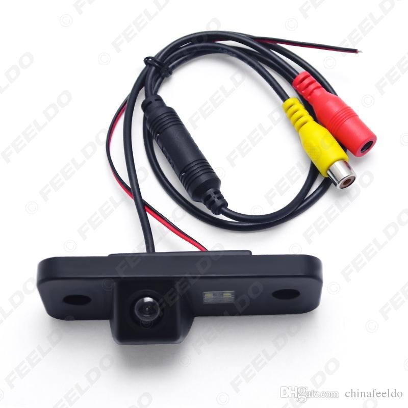 Del revés del coche cámara de visión trasera para Hyundai Santa FE Santa Fe Azera grandeza de la matrícula de la cámara # 2616