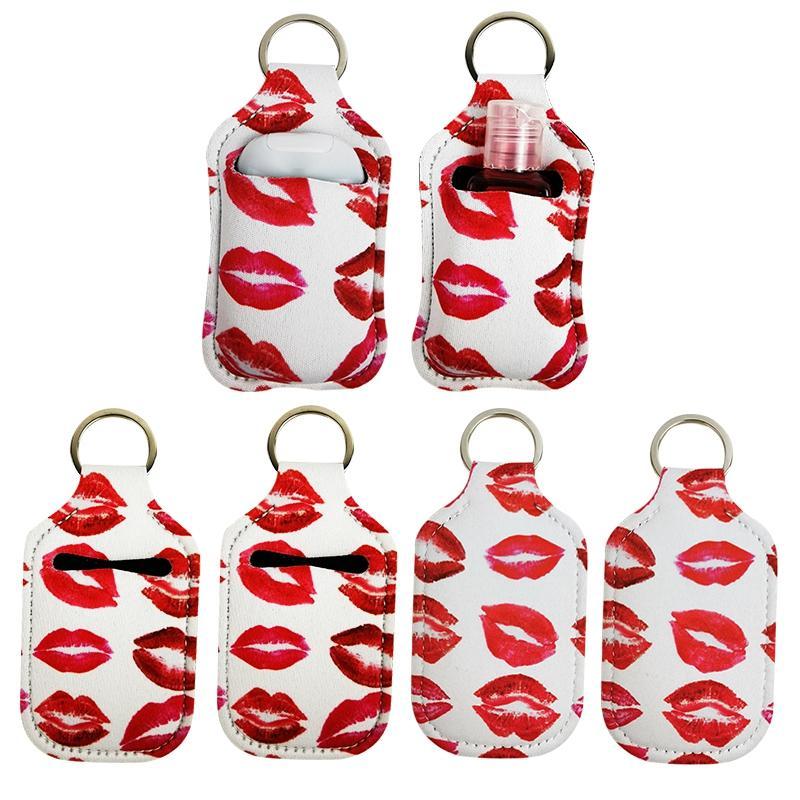 30ml дезинфицирующее средство для рук Держатель бутылки неопрена бутылки втулки крышки Женщины Мужчины Keychain Аксессуары Бейсбол подсолнуха 12 Стиль 10 лотов DW522