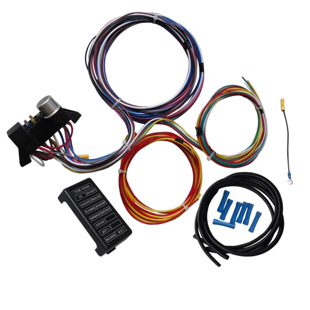 [WQZT_9871]  12 Circuit Wiring Harness Kit Hot Rod Wiring Harness Muscle Car Street Rod  XL Wires Car Phone Adapter Hdmi Cell Phone Adapter From Sharplace, $57.74|  DHgate.Com | 12 Circuit Universal Wiring Harness |  | DHgate.com