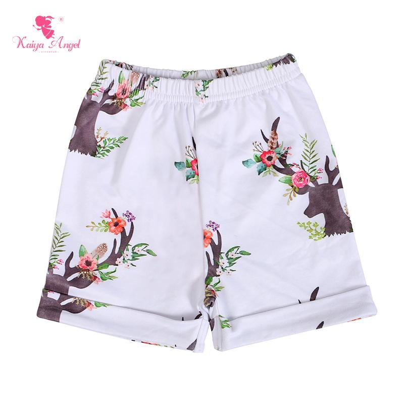 Kaiya Angel Hot Sale Children Short Pants Child Flower Boutique Clothing Wholesale Kids Elephant Cock Deer Baby Girl Boy Shorts