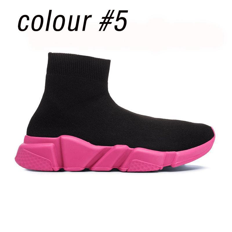 2019 Top Quality Speed Trainer носки обуви для женщин мужских Тройных черных белых красного Повседневного обуви Модельер кроссовки лодыжка ботинки L11