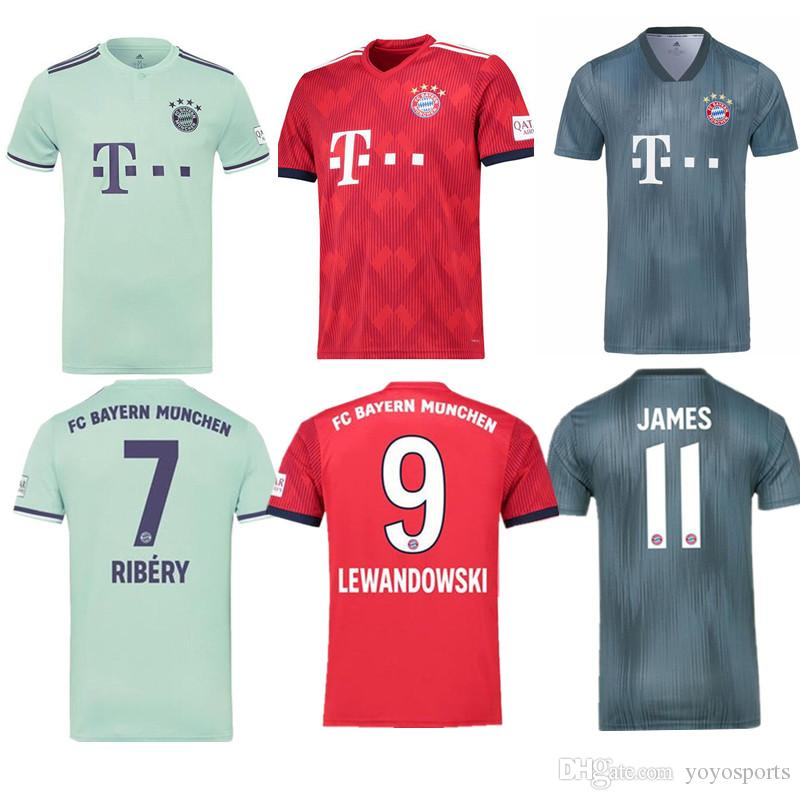 2020 2018 19 Bayern Munich Home Away Third Soccer Jerseys Lewandowski James Muller Robben Futbol Camisa Camisetas Shirt Kit Maillot From Yoyosports 14 72 Dhgate Com