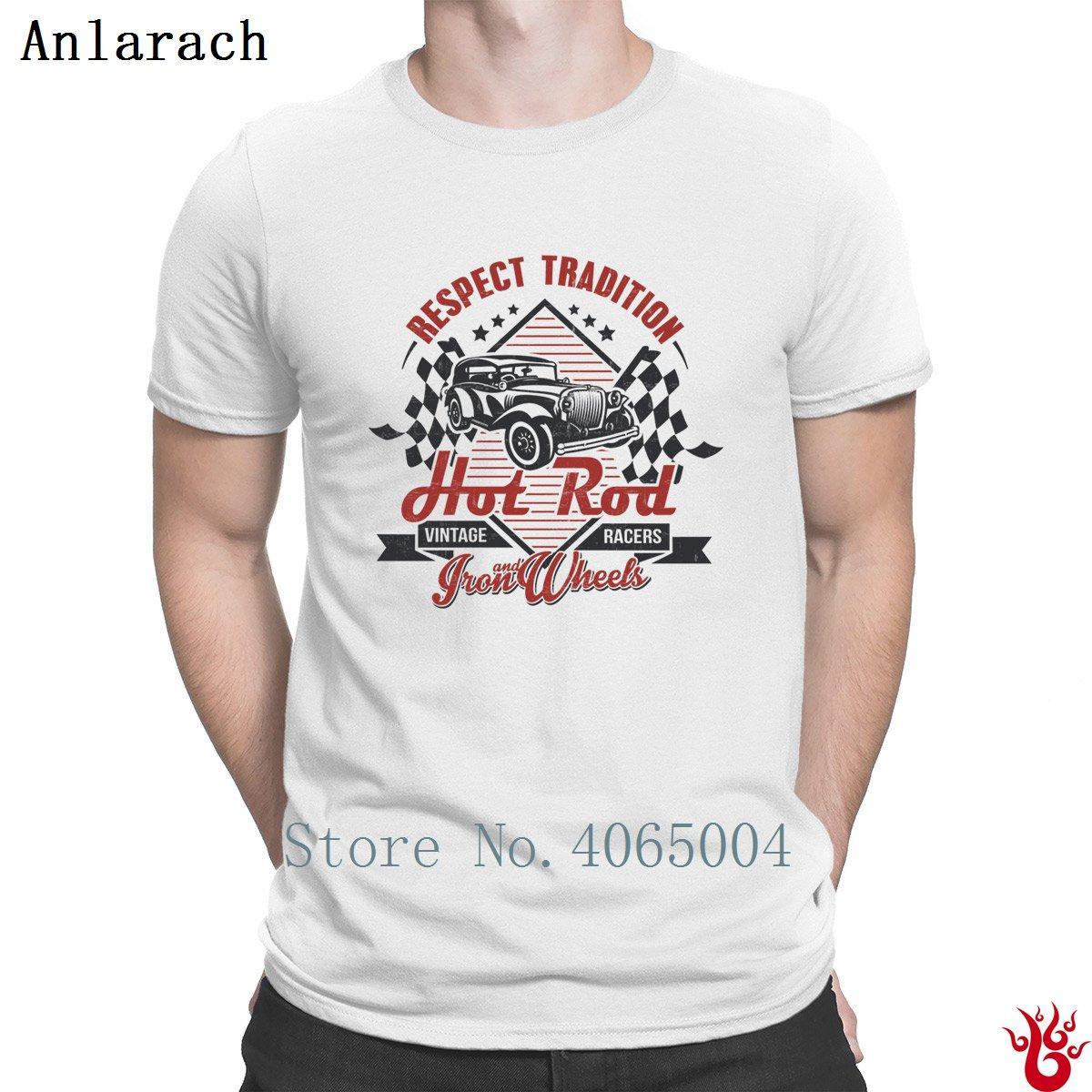Hot Rod Урожай Racerss Нормальный Hiphop Fit Euro Размер S-3XL Мужская футболка Летняя Оригинальная майка 100% хлопок Смешной Casual
