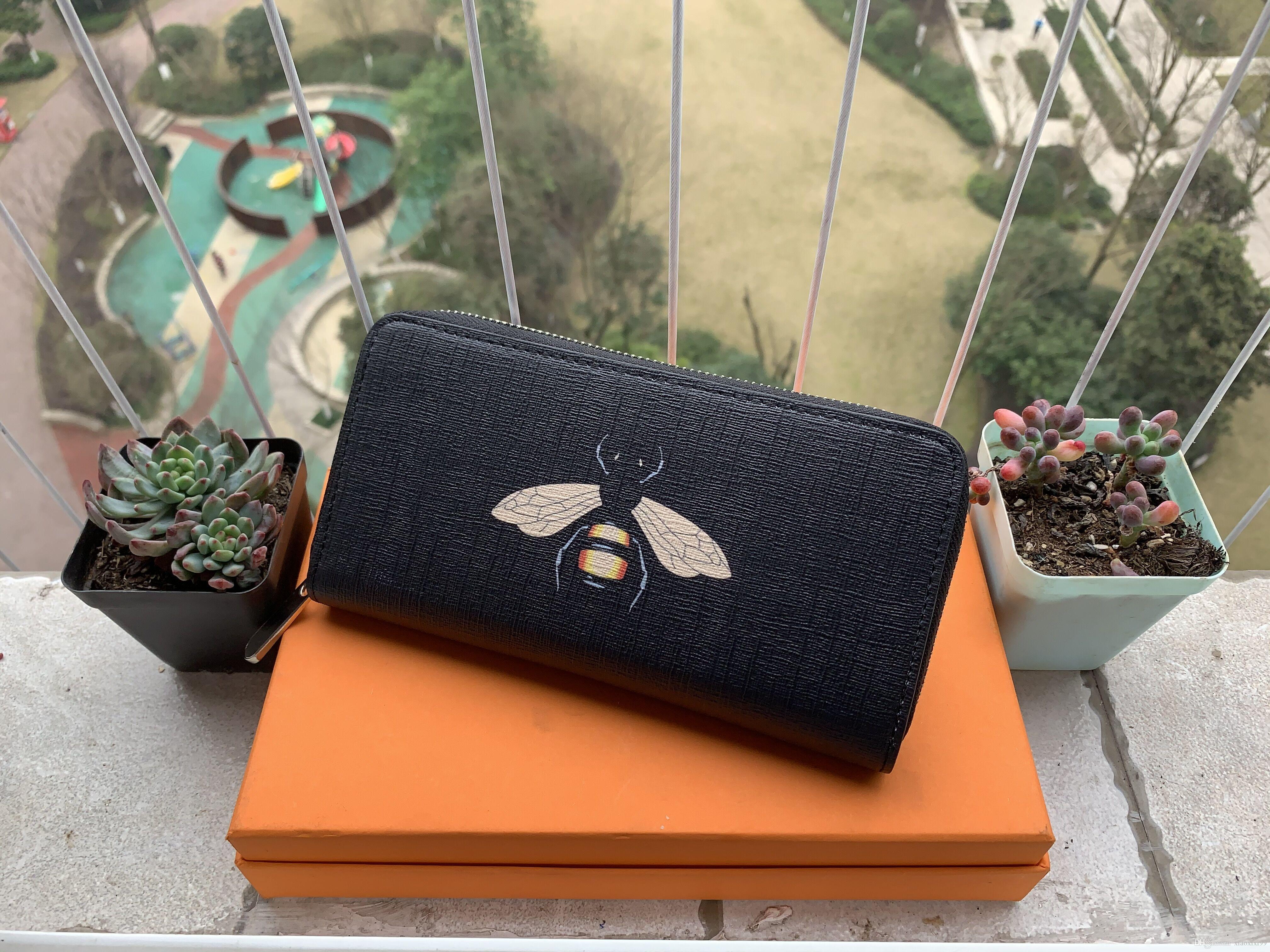 2019 бесплатная доставка Оптовая леди длинный кошелек многоцветный дизайнер портмоне держатель карты оригинальная коробка женщины классический молния pocke