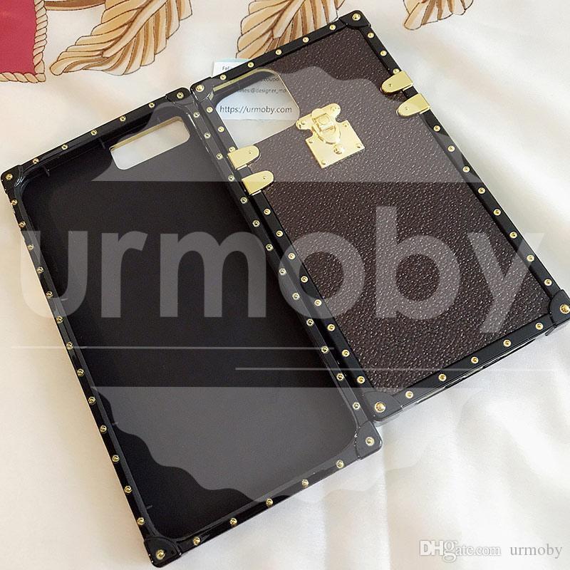 مصمم PU حقيبة جلد لسامسونج غالاكسي S20 9 10 Note10 موضة حالة TPU لآيفون 11 7 8 زائد دروبشيبينغ