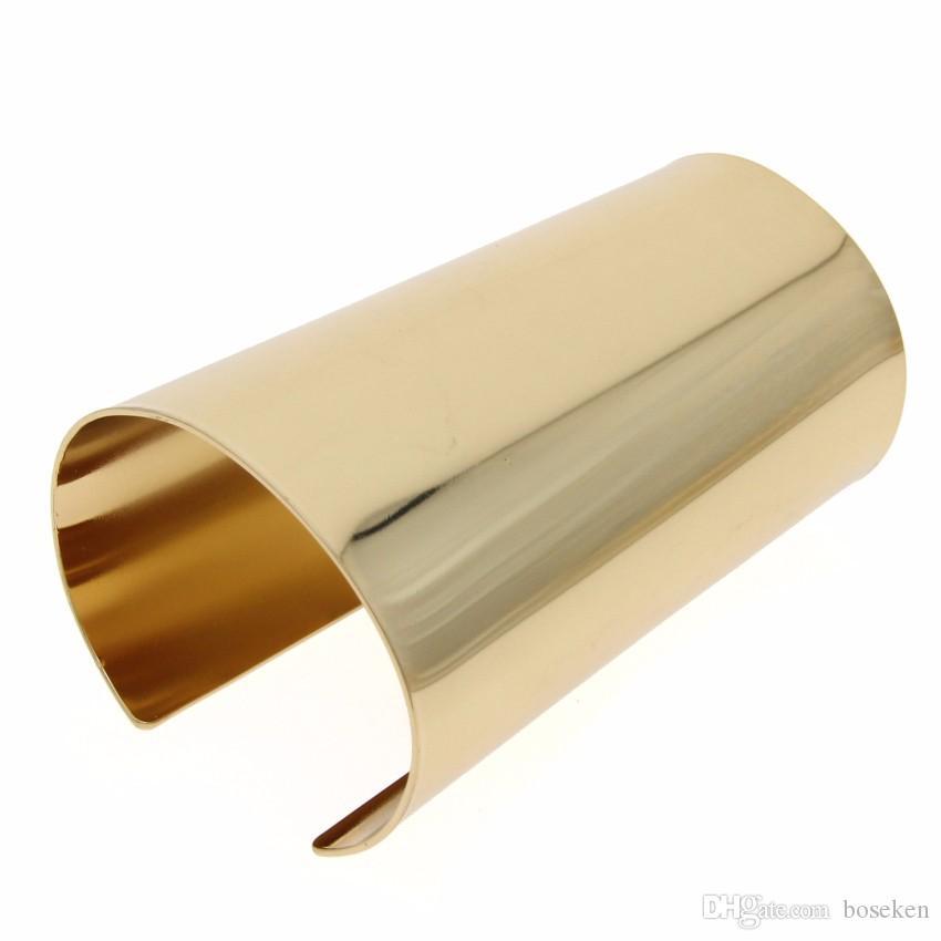 تصميم بسيط المرأة بيان مجوهرات فام تي عرض السلس سوار الملحقات الكبيرة سبيكة الكفة الإسورة طاف