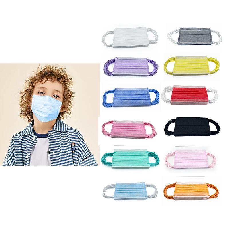 어린이 다채로운 얼굴 마스크 지 - posable 마스크 3 층으로 balck 먼지 입 마스크 커버 3 겹의 부직포 고품질