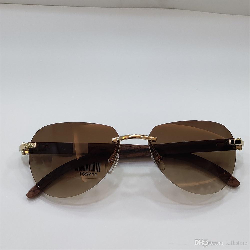 Moda Piloto Sunglasses Homens 2020 Luxo Frameless óculos de sol Men Shades UV400 óculos de sol ao ar livre