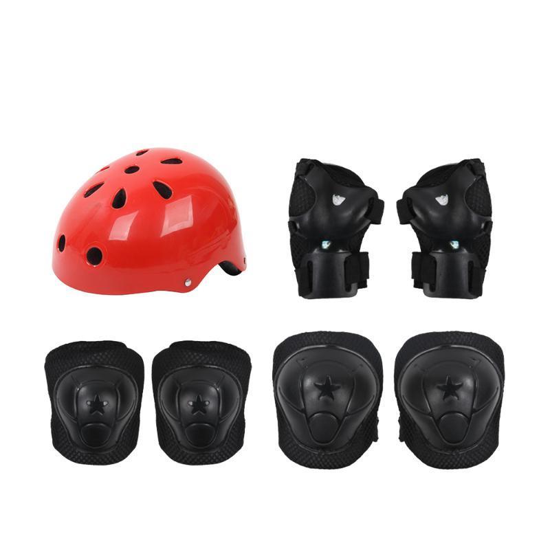 사이클링 헬멧 키즈 헬멧 야외 스포츠 보호 장비 안전 패드 세트 무릎 팔꿈치 및 롤러 스쿠터 자전거에 대 한 손목 경비원