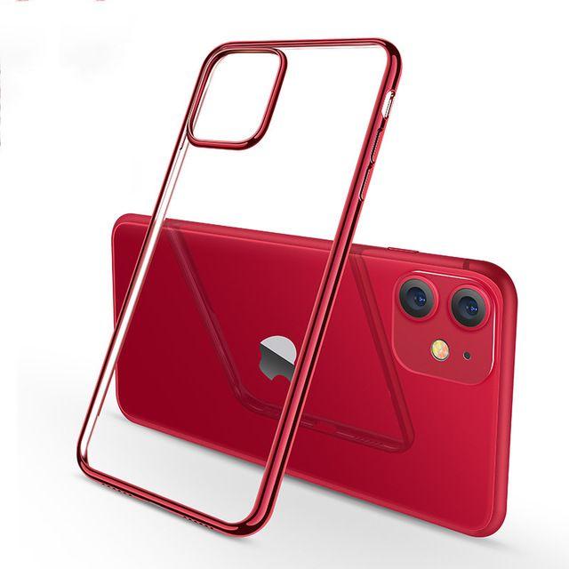 Placage vert minuit pour iPhone 11 Pro Luxury Max souple en silicone transparent Téléphone pour iPhone 11 11Pro XR X XS Max