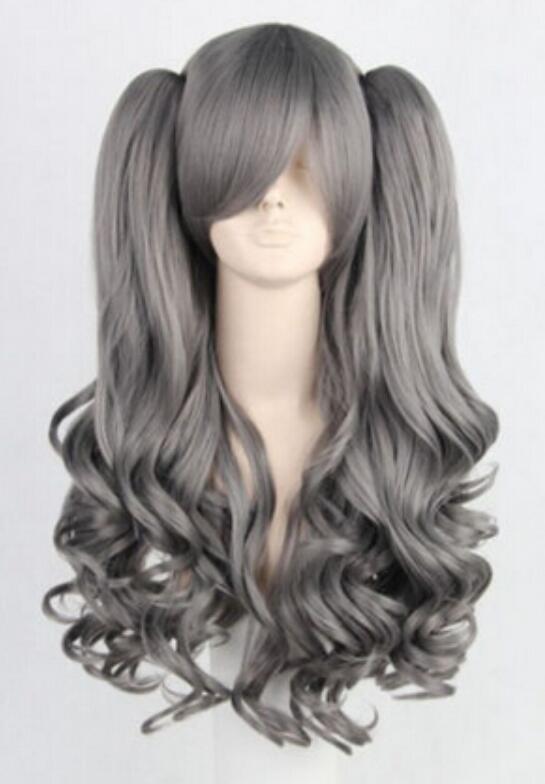 WIG LL 002927 Lolita Grey New Long Sintetic Hair Cosplay Anime Wig