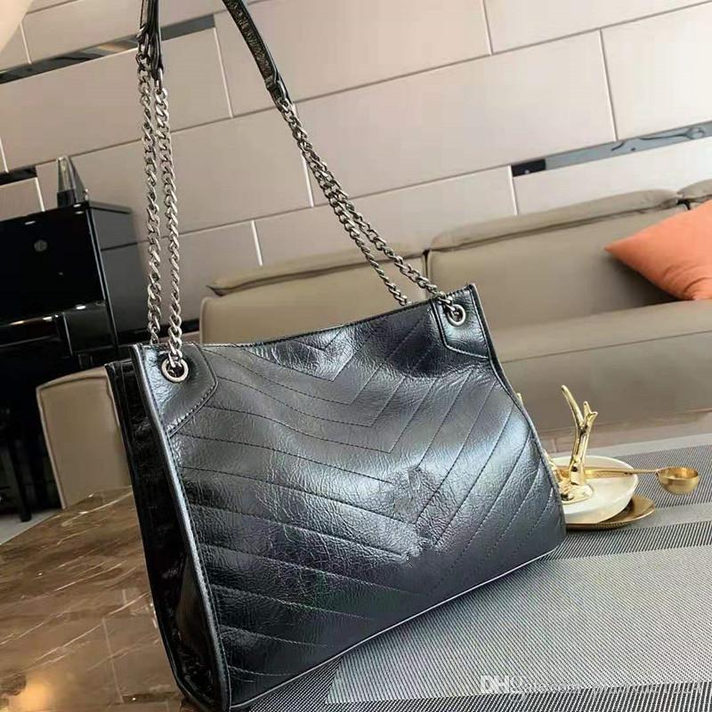 Новая бумага Зерно Масло воск Одно из натуральной кожи сумки на ремне сумки Joker Косой цепи Локомотив пакет женщин конструктора сумки Tote