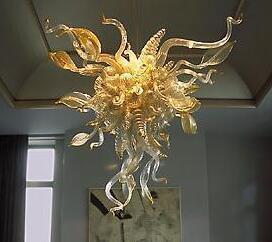 Modern sanat cam avize tavan lambası antika murano şişmiş cam kolye ışıkları cam abajur çatı kolye lambaları led aydınlatma armatürleri