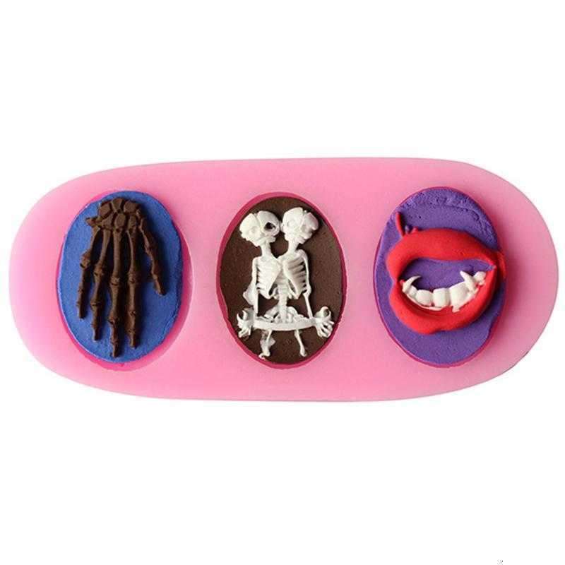 Crâne Forme Humaine Chocolat Bonbons Silicone Moule Gâteau Outils Savon Moule Sucre Artisanat Gâteau Décoration