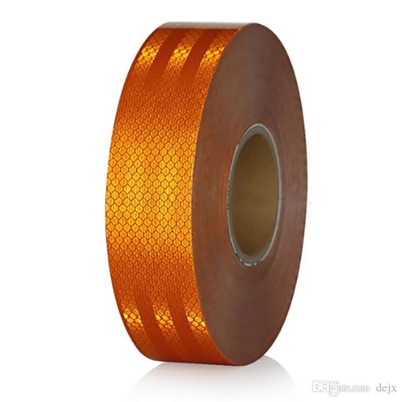 Freeshipping البرتقال عاكس تحذير الشريط اللاصق سيارة شاحنة Conspicuity Tape Car Accessories