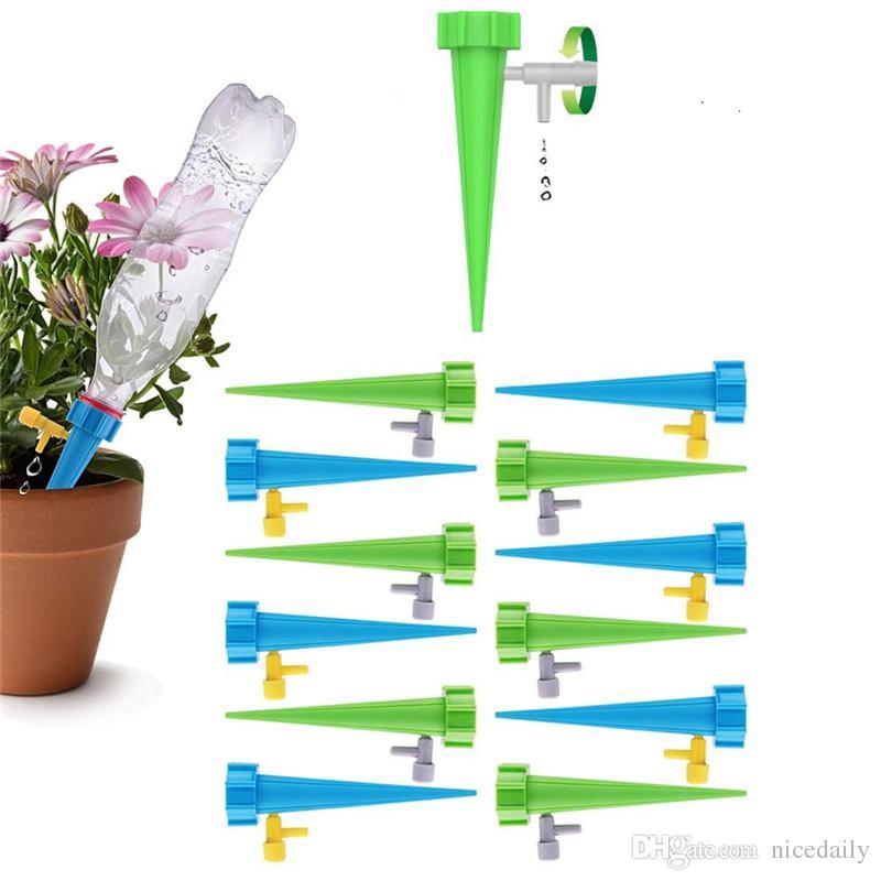 느린 해제 제어 밸브 스위치가있는 식물 스파이크 시스템 야외 실내 꽃이나 야채에 대한 자체 관개 물 뿌리개 장치