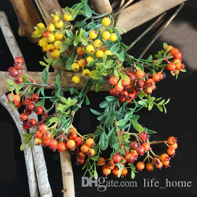 2019 new beautiful flowers Christmas Berry Bean branch christmas Christmas Decorations foreign trade flower arrangement home decoration