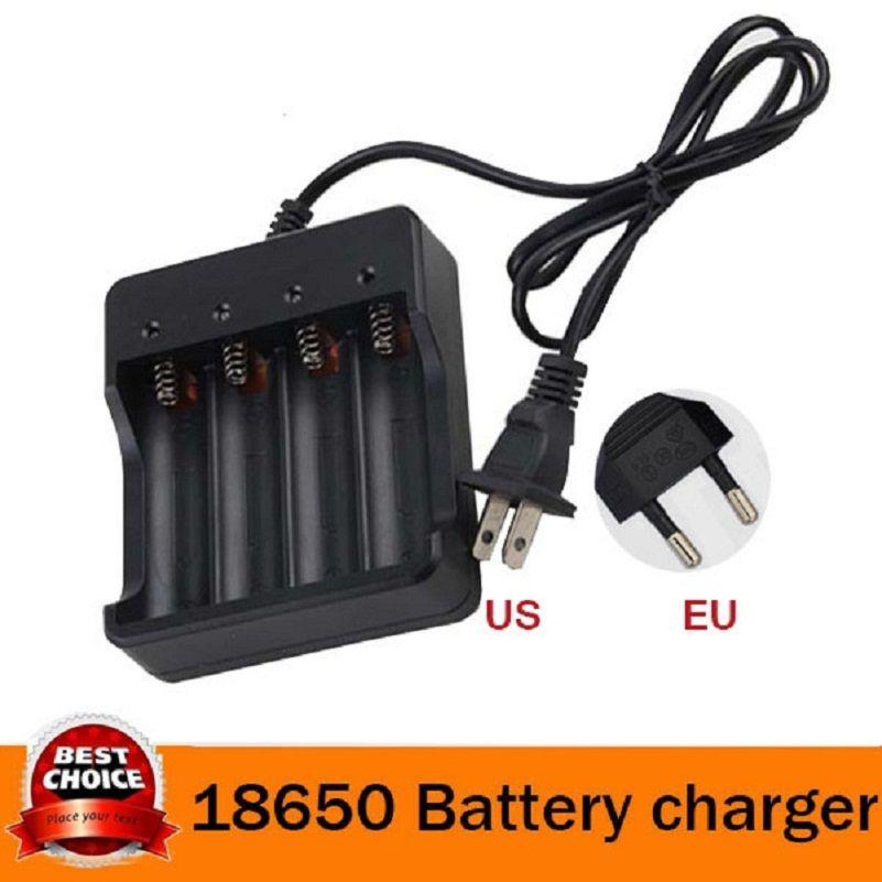 리튬 배터리 충전기 블랙 3.7 볼트 4 슬롯 지능형 멀티 18650 리튬 이온 배터리 충전기 무료 배송
