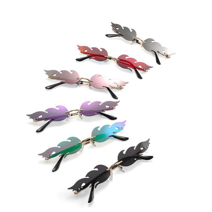 디자이너 선글라스 불꽃 선글라스 남자 여자 비치 고글 안경 UV400 6 색 우수한 품질