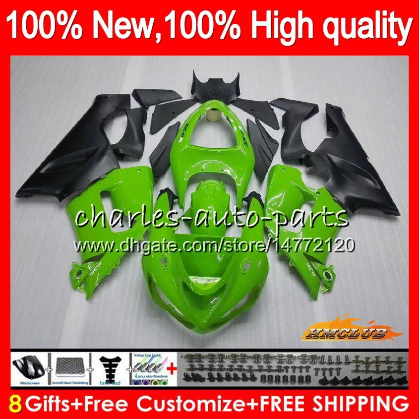 Körper für KAWASAKI ZX600 ZX 6R 600cc 6 R ZX636 05 06 35HC5 ZX636 600 CC ZX6R 05 06 ZX600 ZX 636 ZX6R Lager grüne Spitze 2005 2006 Verkleidungs-Kit