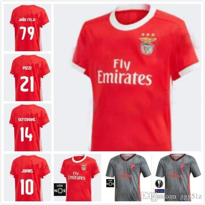 19 20 camiseta de fútbol Benfica JONAS 2019 2020 KROVINOVIC PIZZI FERREYRR SALVIO cómodo y transpirable absorber el sudor y se secan rápidamente