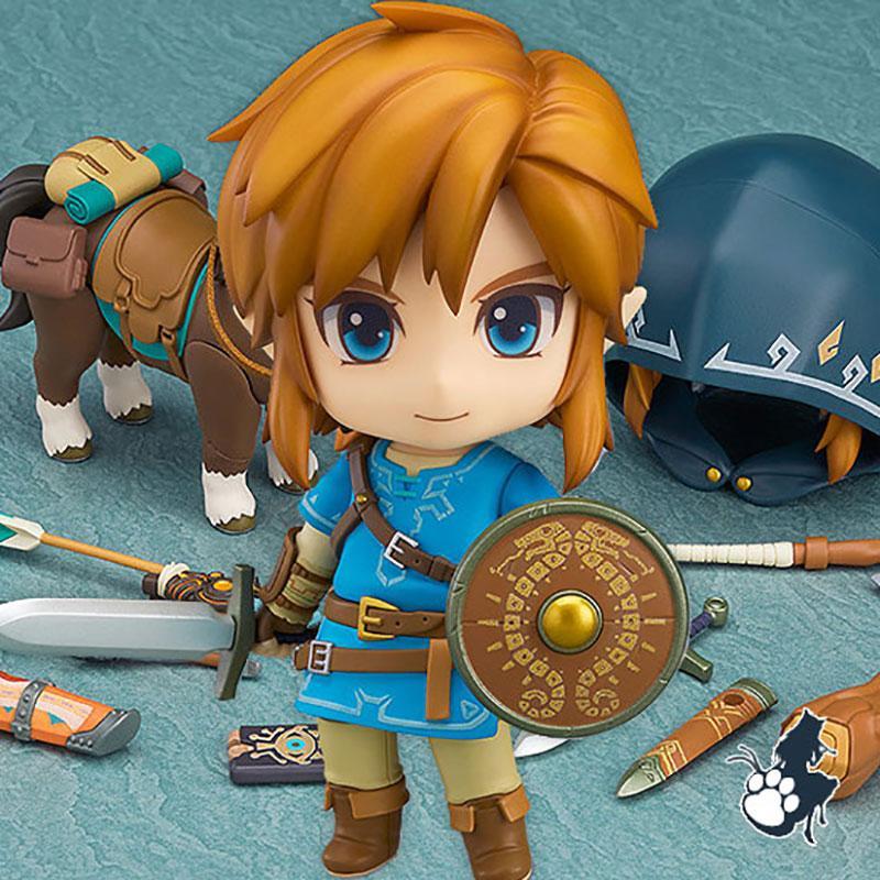 Acción buena sonrisa Nendoroid Enlace Zelda Figura Aliento de salvajes Ver Dx Edición Deluxe Version figura de acción de PVC Juguetes modelo de juguete