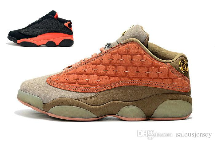 2019 new 13 retro Low Clot Terracotta Sepia Stone Warriors XIII youths big boy and girls basketball shoes 13s Bred laides sports sneakers