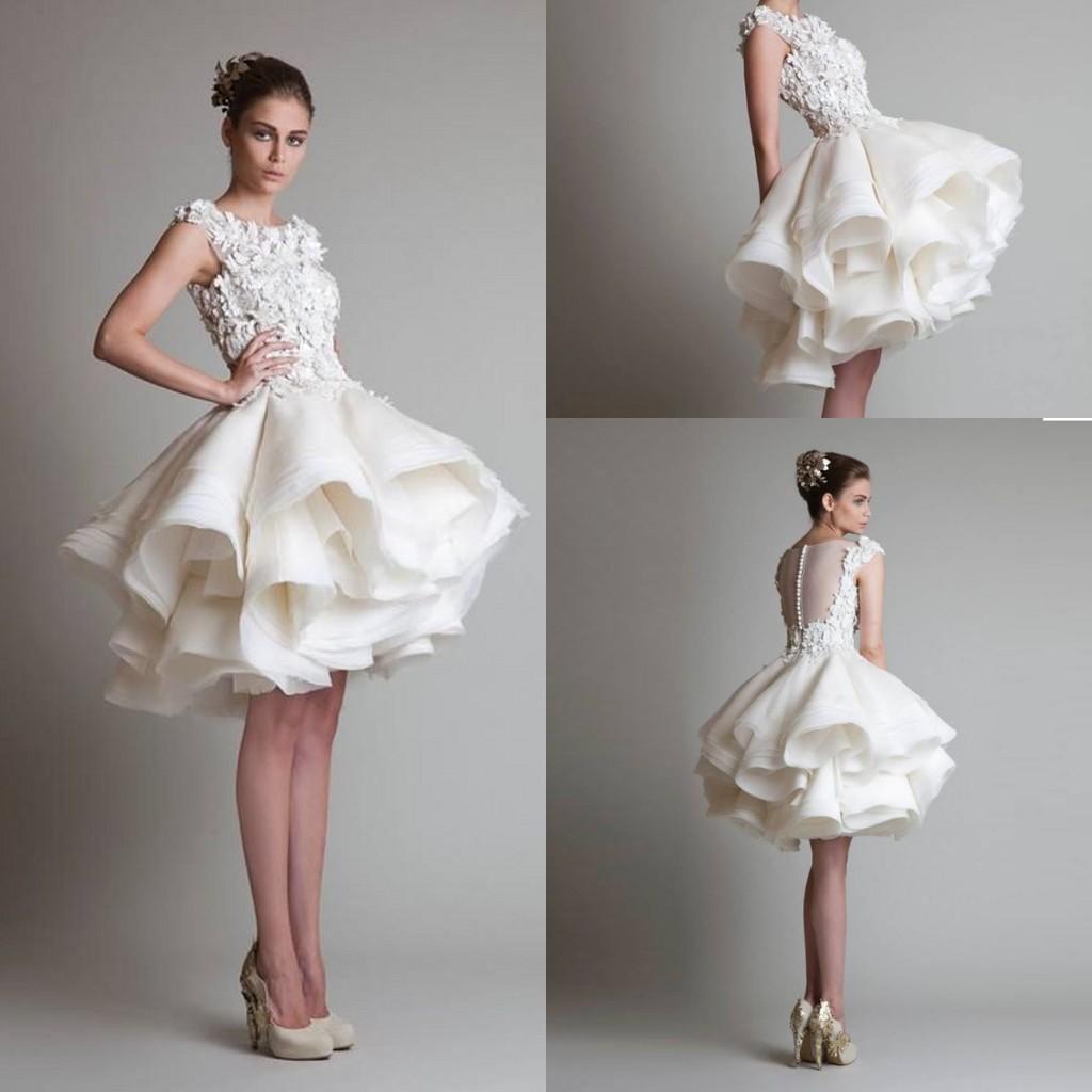 Lorie A-Line атласные свадебные платья плюс размер Короткие ... | 1024x1024