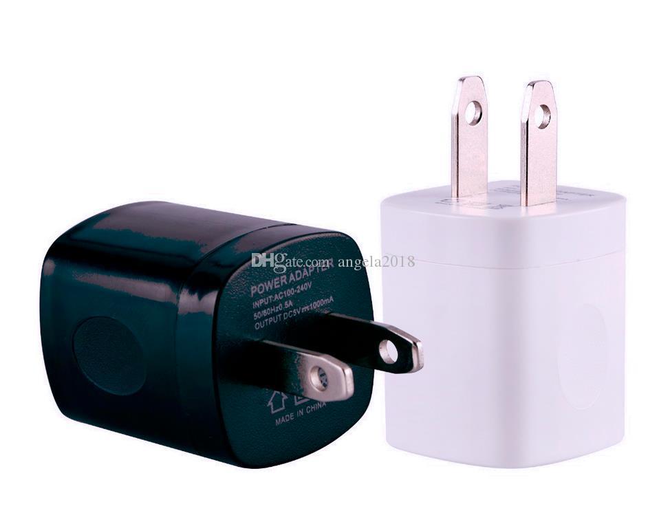 Caricatore della parete di corsa di CA del USB superiore 5V 1A singolo spina degli Stati Uniti doppio del caricatore per la galassia HTC Smart Phone Adapter Best Price DHL