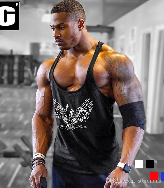 GYM VEST de ropa de Fitness Tank Top Sexy culturismo Stringer oro músculo camisa entrenamiento chaleco gimnasios