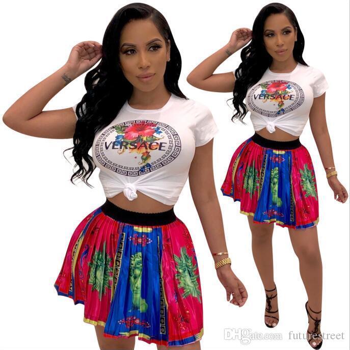 Diseñador del chándal de impresión de letras 2 de dos piezas del vestido de la marca Top y pantalones Mujeres chándal informal del juego del equipo de deportes sudaderas Ropa