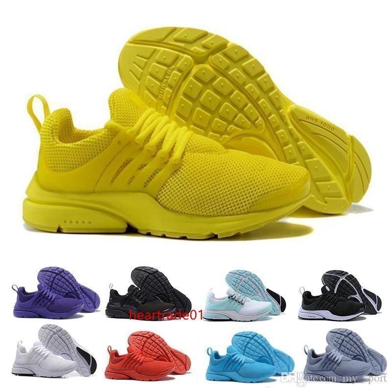New 5 Presto Br Qs Homens sapatilha das mulheres Tripel Black White Red Running Shoes Mens instrutor Sports Shoe Atlético sapatos de corrida Tamanho 36-45