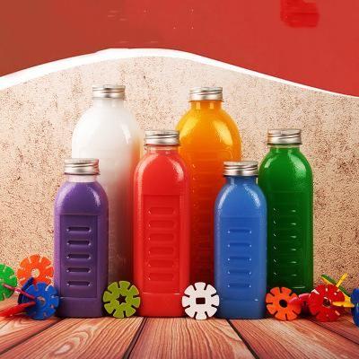 350ML 500ML 1000ML Scrub plastica Juice Bottiglia bottiglia di acqua di alta qualità Frosted PET con segno di spunta e ghiera in alluminio