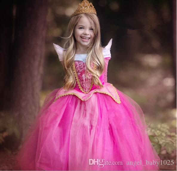 Neue europäische und amerikanische Kinder Röcke heiß Mädchen langärmelige Kleid Märchen personalisierte Prinzessin Kleid