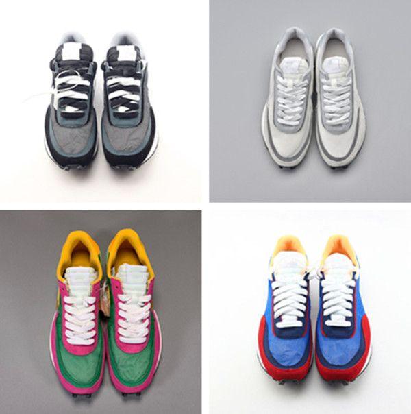 مع مربع جديد السالك x LDV الهراء الأزرق الأخضر عارضة الأحذية الأبيض الأزرق الأصفر الأسود رجل توكي زلة مصمم فاخر