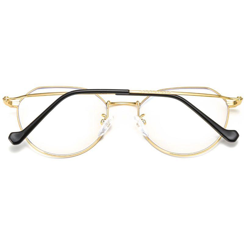 Computer Glasses Fashion Gold Frame Radiation Glasses Women's Big Box Anti-Glare Men And Women Radiation Protection Goggles Mobile Computer