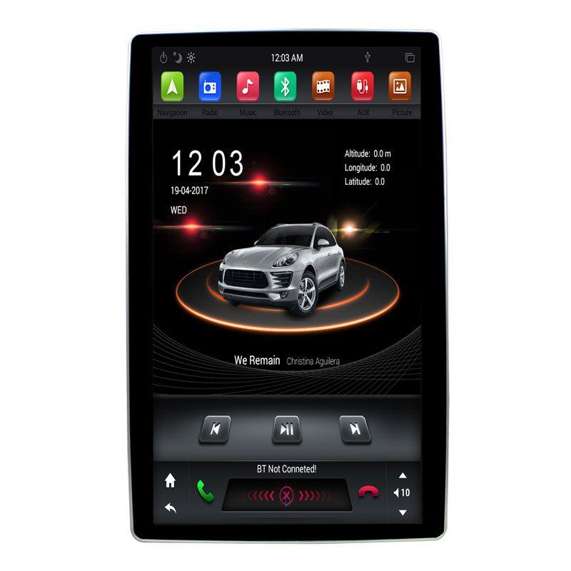 12.8 بوصة للتدوير PX6 6 كور 4 + 32G الروبوت 9.0 DSP عالمي 2 الدين سيارة اللاعب دي في دي راديو