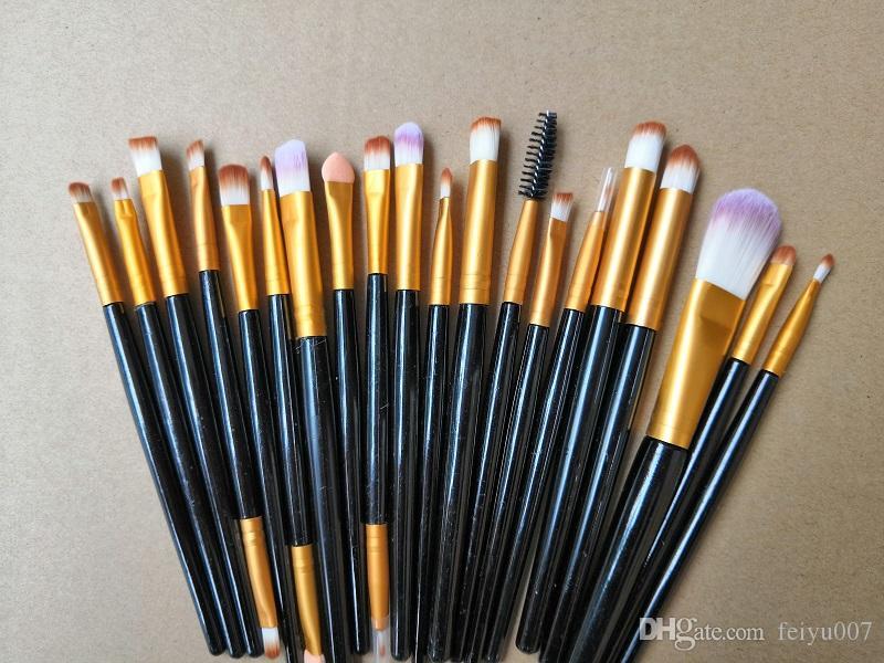 Cheek 2019 nueva 20PCS / SET de cepillo cosméticos profesionales, Rosa ojos, cejas, labios, pelo nasal Mixta Herramienta cosmética cosmético del cepillo
