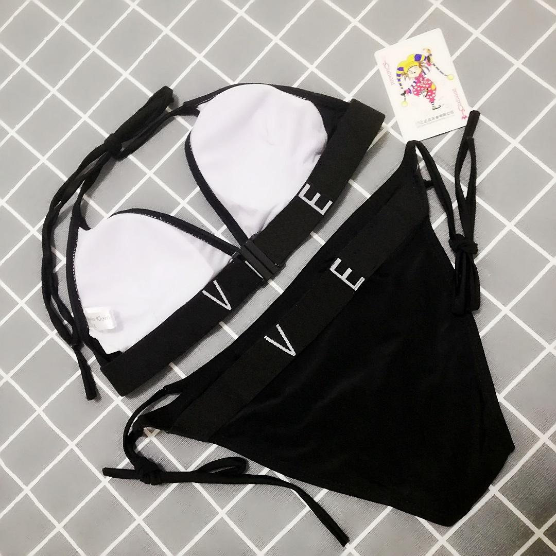 여성 수영복 여름 패션 스타일리스트 문자 인쇄 섹시한 비키니 여자 트렌드 수영복 정장 여성 단색 비키니 3 색