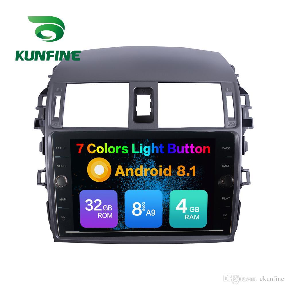 Octa Núcleo 4 GB RAM 64 GB ROM Android 8.1 Car DVD Player GPS Do Carro Estéreo Sat Nav Para Toyota COROLLA 2007-2013 Unidade de Rádio Sem Disco